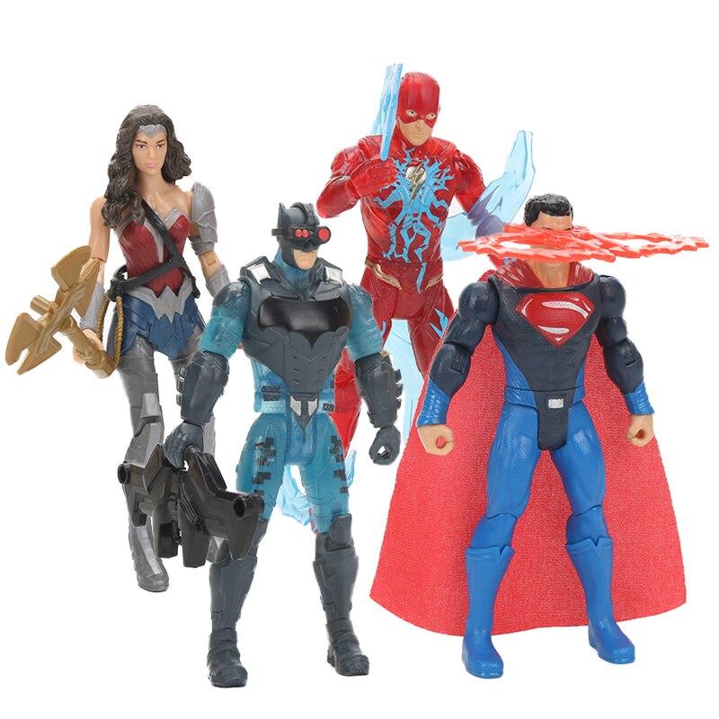 5 DC Justice League Batman Superman Wonder Woman Flash Action Figures Doll Toy