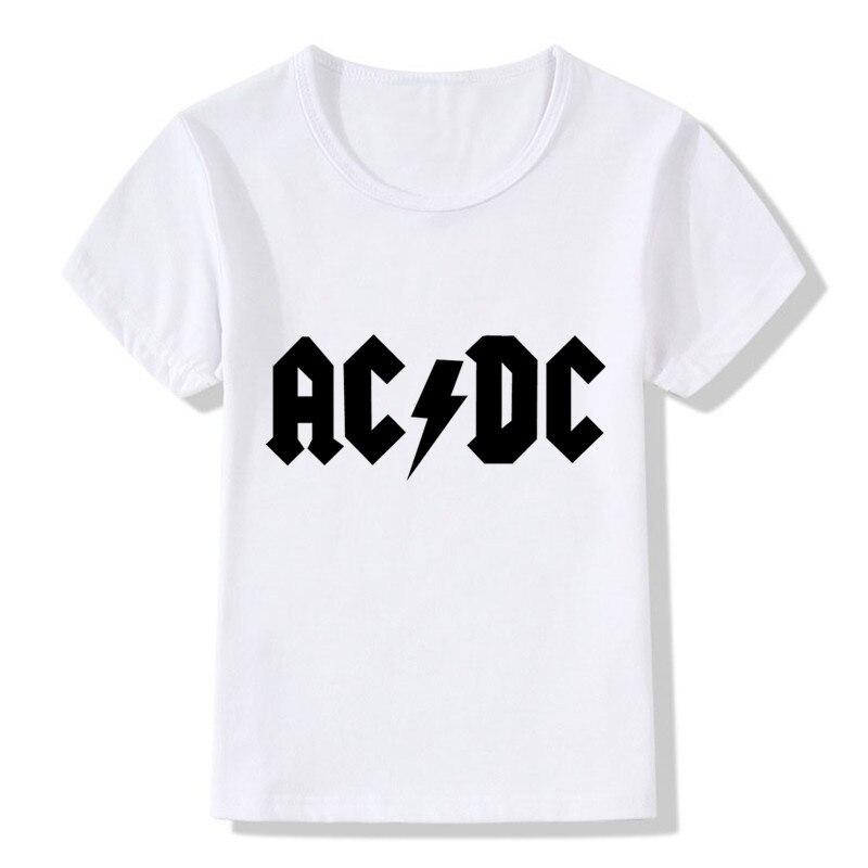 2018 AC/DC Rock Stampa Bambini T-Shirt Estate Top Ragazzi/Ragazze Manica Corta Vestiti Casual Hip Hop Grafici bambino Bambini Tees, HKP22192018 AC/DC Rock Stampa Bambini T-Shirt Estate Top Ragazzi/Ragazze Manica Corta Vestiti Casual Hip Hop Grafici bambino Bambini Tees, HKP2219