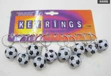 Soccer bag Pendant plastic soccer ball keychain small Ornaments key chain sports advertisement souvenirs key ring gifts(China)