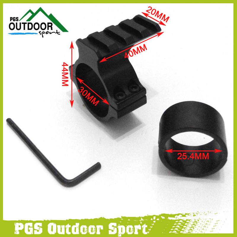 Air Gun Airsoft Hunting Rifle 30mm Ring Scope Flashlight Mount Adaptor Clamp With 20mm Weave Picatinny Rail