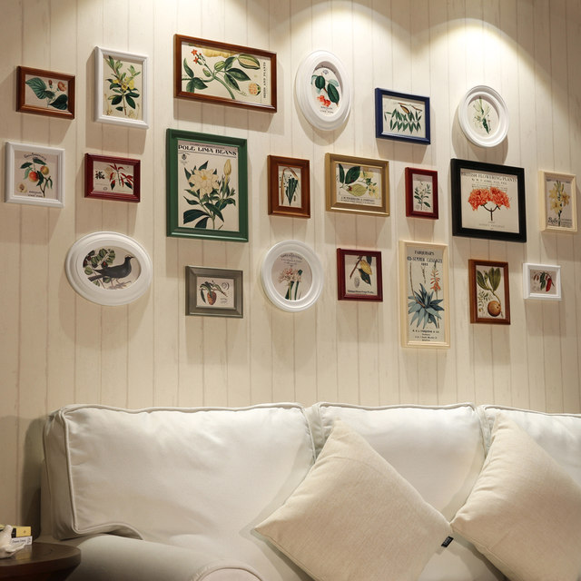 Online Shop 21piece/set Wall Collage Photo Frames Set White Wooden ...