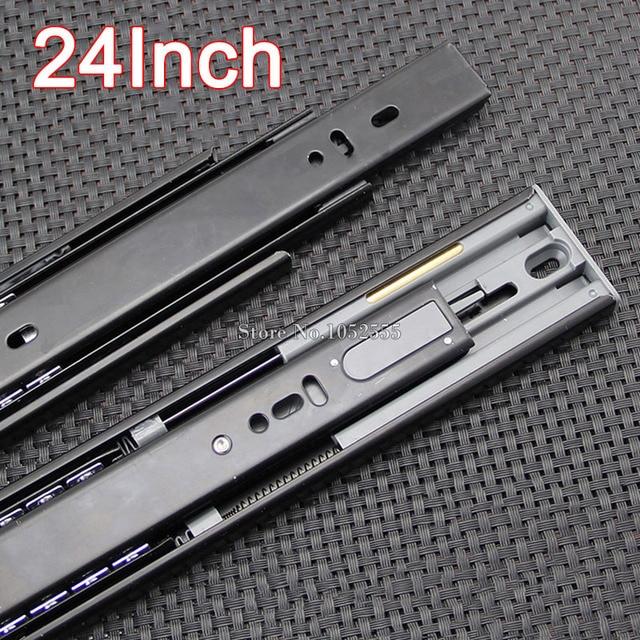 "Top Designed 1Pair=2PCS 24"" Portable 3 Fold Telescopic Steel Ball Bearing Drawer Runners Slides Rail K191/8"