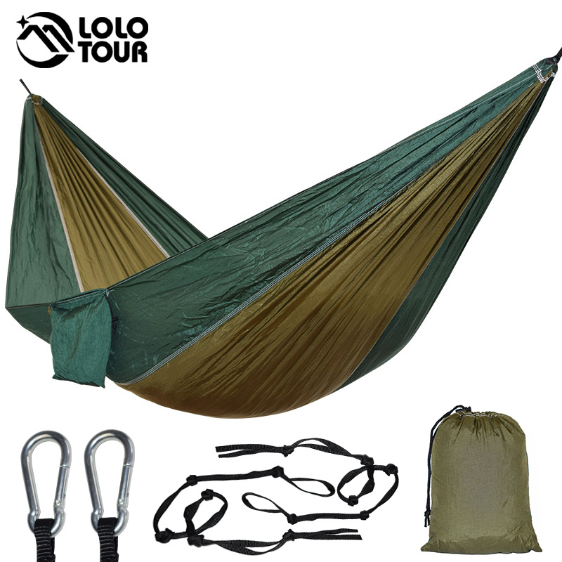Parachute Cloth Hammock Sleeping Swing Single Person Outdoor Travel Relax Leisure Hamak Hanging Bed Durable Survival HamacParachute Cloth Hammock Sleeping Swing Single Person Outdoor Travel Relax Leisure Hamak Hanging Bed Durable Survival Hamac