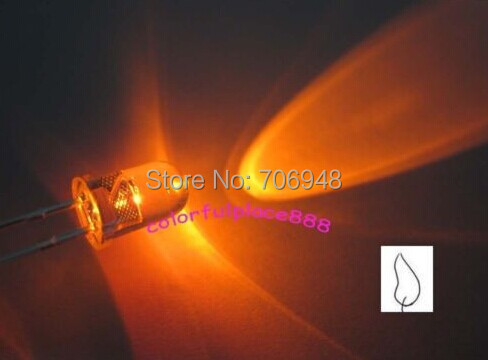 MIX Water clear 5mm White/Orange/Green/Blue/Red/Yellow Candle Flicker Ultra Bright Flickering LED Leds