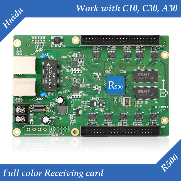 HD-R500 Asynchronous Full Color LED Display Control Card Receiving Card Work With C10, C30, A30