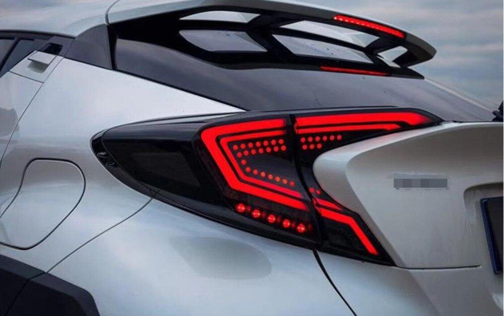 Автомобильный Стайлинг светодиодный задний фонарь для Toyota CHR CH R 2017 2018 2019 автомобильные аксессуары задний свет DRL + указатель поворота с