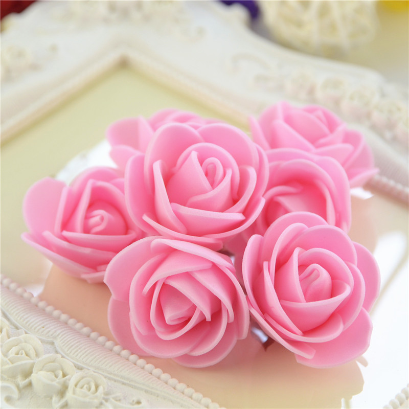 50pcs/Bag Multicolor Mini Rose Head Artificial Flowers For Wedding And Festival Party 19