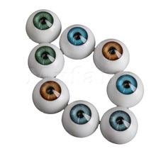 Mxfans 8PCS 20mm Half Round Acrylic Doll Bear Craft Plastic Eyes Eyeball for Halloween