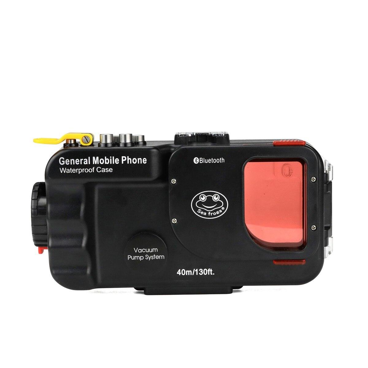 Gens de mer 40 m/130ft universel Bluetooth boîtier étanche plongée housse de téléphone sac pour téléphone portable-noir/blanc