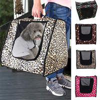 Breathable Dogs Cats Travel Bag Folding Small Pets Carrier Travel Cage Collapsible Crate Tote Handbag
