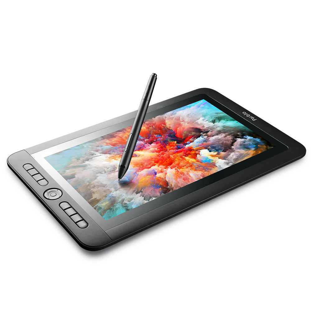 Parblo Coast13 13.3 IPS Graphic Tablet 8192 Pressure Drawing Monitor with 8 shortcut Keys Battery-free Passive Pen+Type C Cable