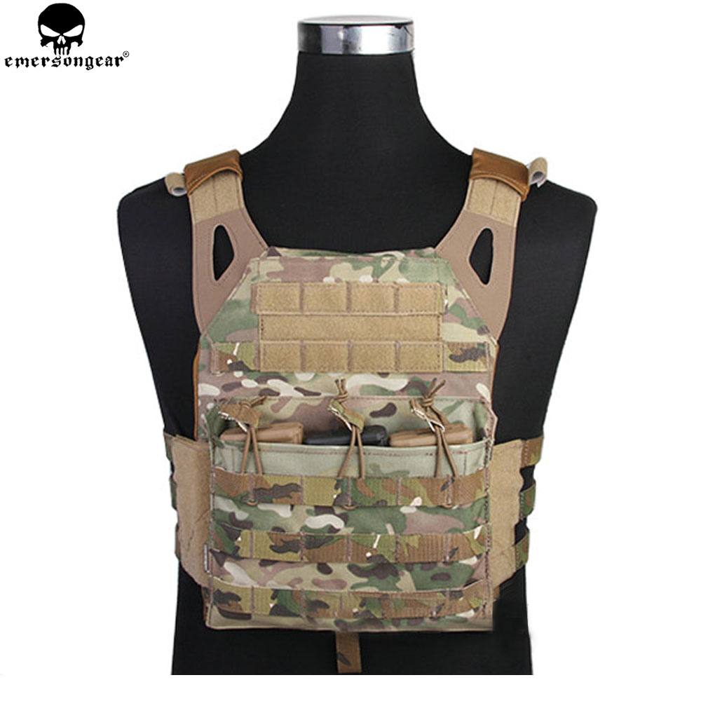 EMERSONGEAR Tactical Vest MOLLE JPC Vest Airsoft Paintball Molle Vest Chest Protective Plate Carrier Multicam Combat Vest EM7344