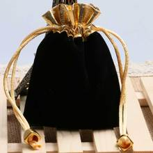 Watch-Bag Velvet Collection-Bag Pocket-Watches Black Gift for Gold-Rope