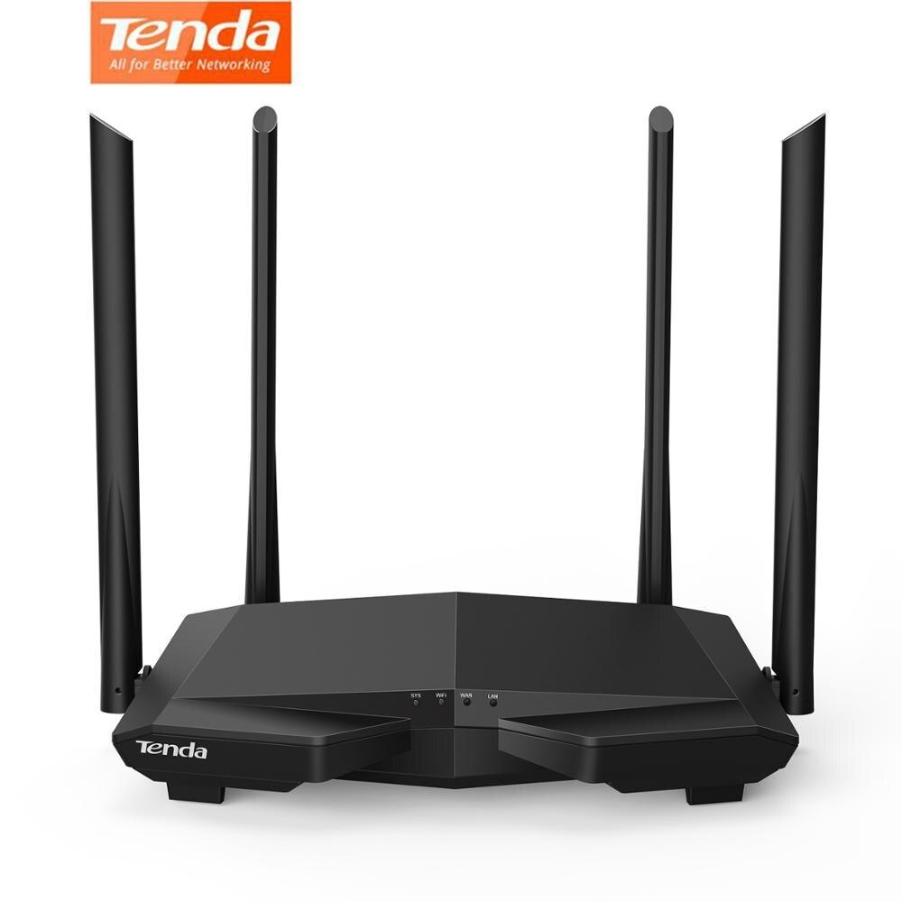 Tenda ac6 ac1200 banda dupla 2.4/5 ghz roteador wi-fi de alta velocidade roteador internet sem fio com app inteligente MU-MIMO para casa soho inglês