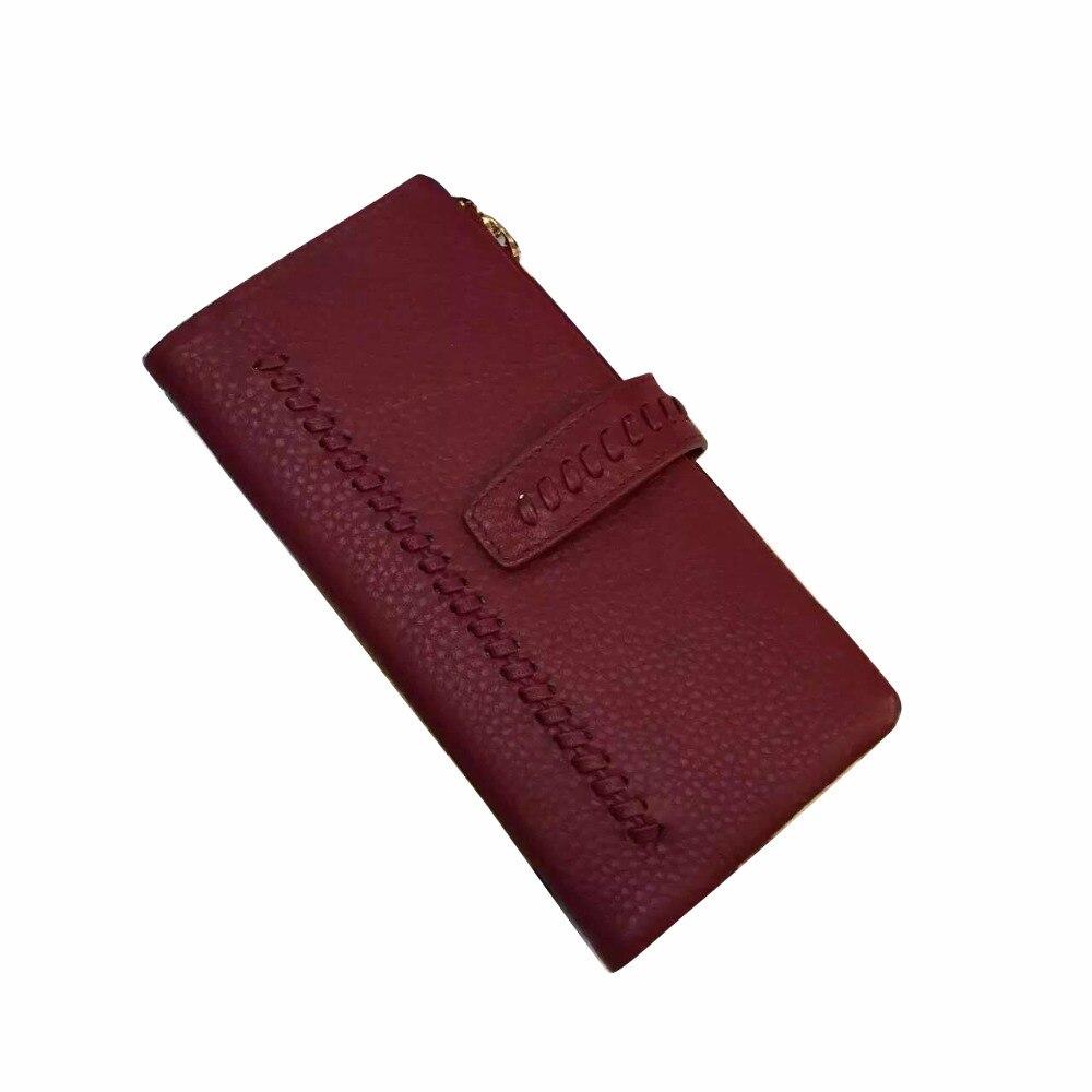 GENMEO nouveauté Célèbre Designe Réel portefeuille en cuir Femmes En Cuir Titulaire de la Carte De Mode Sac À Main sac à main à poignée