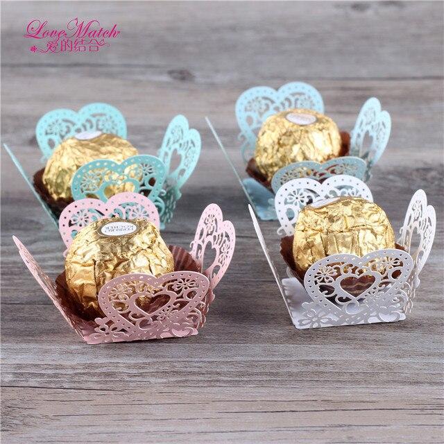 50 Pcs Laser Cut Wedding Candy Bar Lo V E Design Favors And
