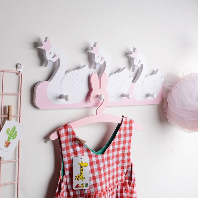 New Nordic Style Scandinavian Decor Wooden Wall Shelf Hook  Kids Room Decoration Organizer Storage Holders Scandinavian For Kids