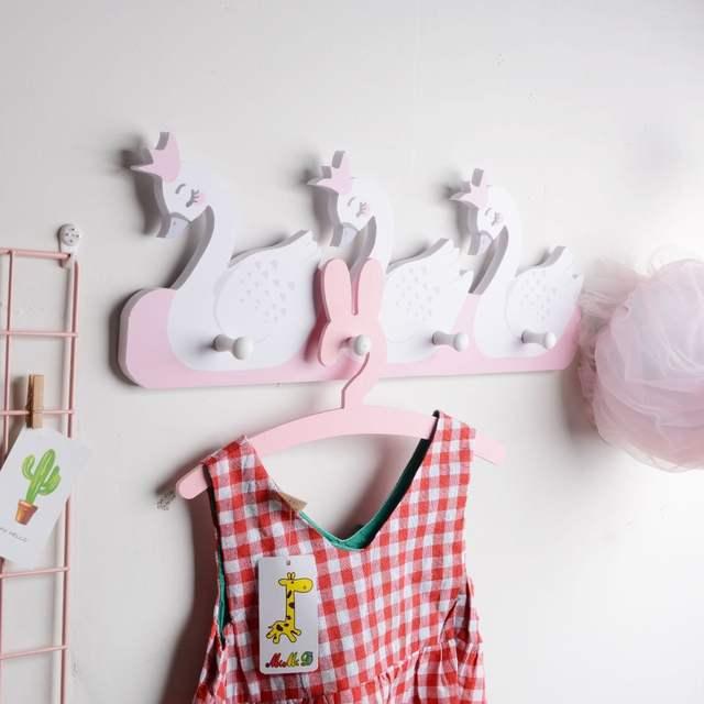 Nordic Style Nursery Decor Kids Scandinavian Wall Shelf Hook Room Decoration Storage Holders For