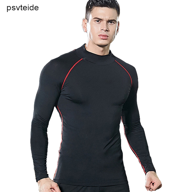 Mens Long Sleeve Dri-fit Compression Top Shirt Base Layer Workouts Tee