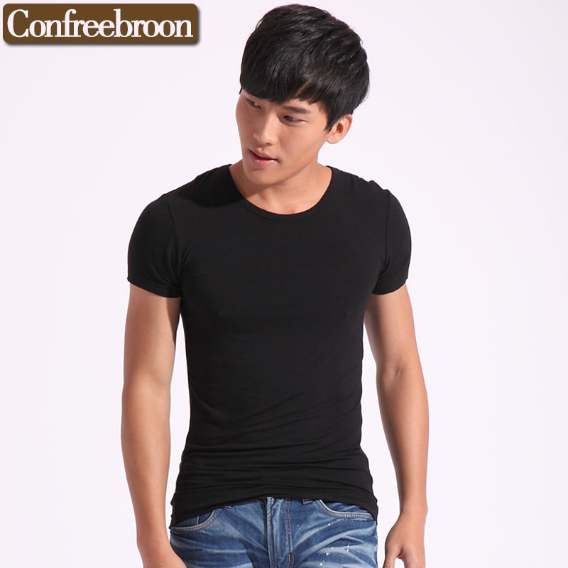 Men's o-neck t-shirts Cotton Stretch Short Sleeve T-shirts Breathable moisture absorption For The Four Seasons T601