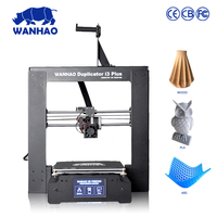 2018 new style WANHAO I3 PLUS with aluminum heated, new version desktop metal 3d printer with 10m filament free as gift
