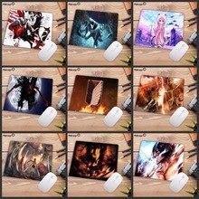 Mairuige tapis de souris rectangulaire, antidérapant, motif danimation japonais, Titan pour Gamer, tapis de souris confortable pour Laser optique