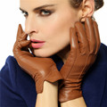 WARMEN Clássico Estilo Simples das Mulheres Mornas do Inverno 100% da pele de Carneiro Genuína Luvas De Couro Luvas de Moda, frete Grátis