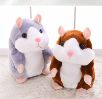 1 PCS 15 CM Plush Toy Hot Cute Speak Talking Sound Talking Hamster Mouse Pet Record