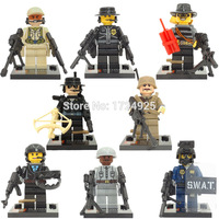 Police SWAT Military Weapon World War II Marine Corps Army Soldiers Special Forces Building Blocks Sets