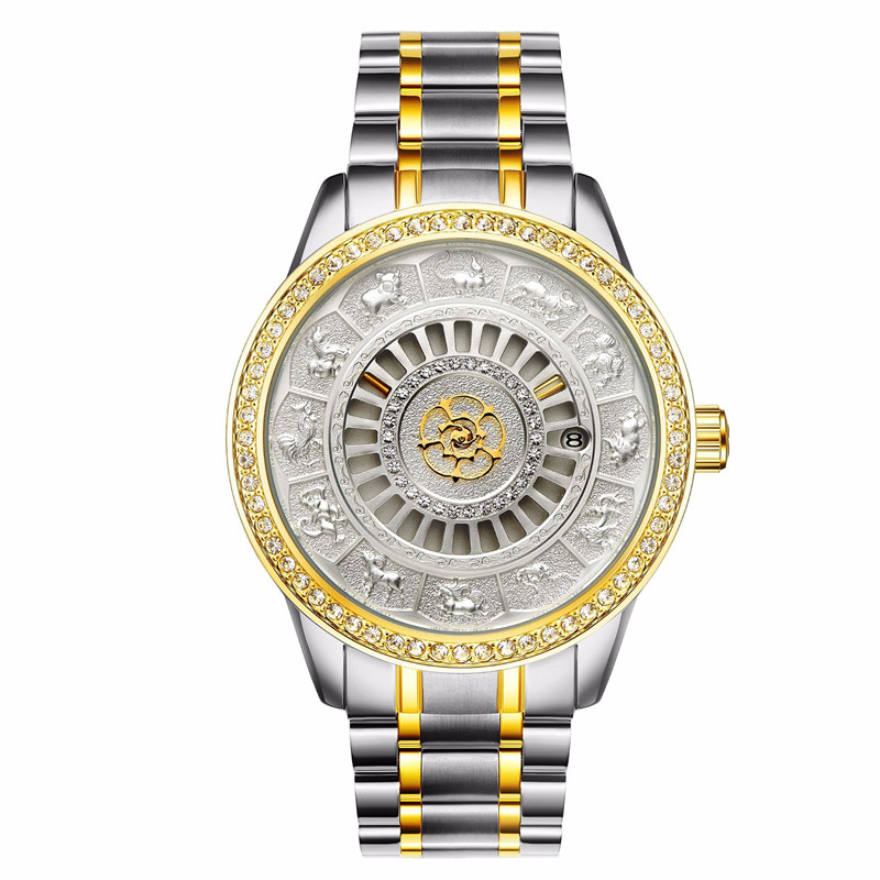 New Tevise Brand Men Mechanical Watch Automatic Fashion Animal Dial Luxury Gold Wrist Watches Male Clock Relogio Masculino in Mechanical Watches from Watches