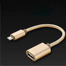 Micro usb To Female USB Host Cable O T G Adapter for Lenovo  Xiaomi Tablet Android Reader Phone
