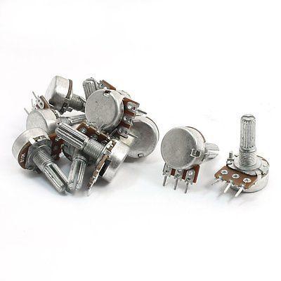5PCS 10K OHM Linear Taper Potentiometer Pot B10K