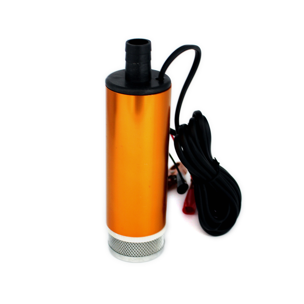 51mm DC Electric Diesel Fuel Pump 12V 60W 30L/min lift 3m 8500rpm Water Oil Car Camping Fishing Submersible Transfer Switch