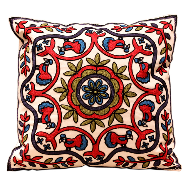 Aliexpress.com : Buy 33 Patterns 100% Cotton Embroidery Sofa Cushion Cover Perfect Quality Home ...