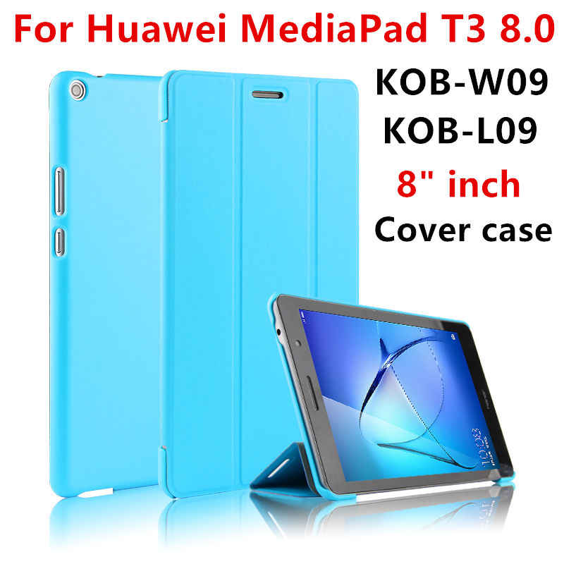 "Cover Case For Huawei Mediapad T3 8.0 KOB-W09 KOB-L09 Protective Cover PU Leather For Honor Play Pad 2 kob-w09 l09 8""Tablet Case"