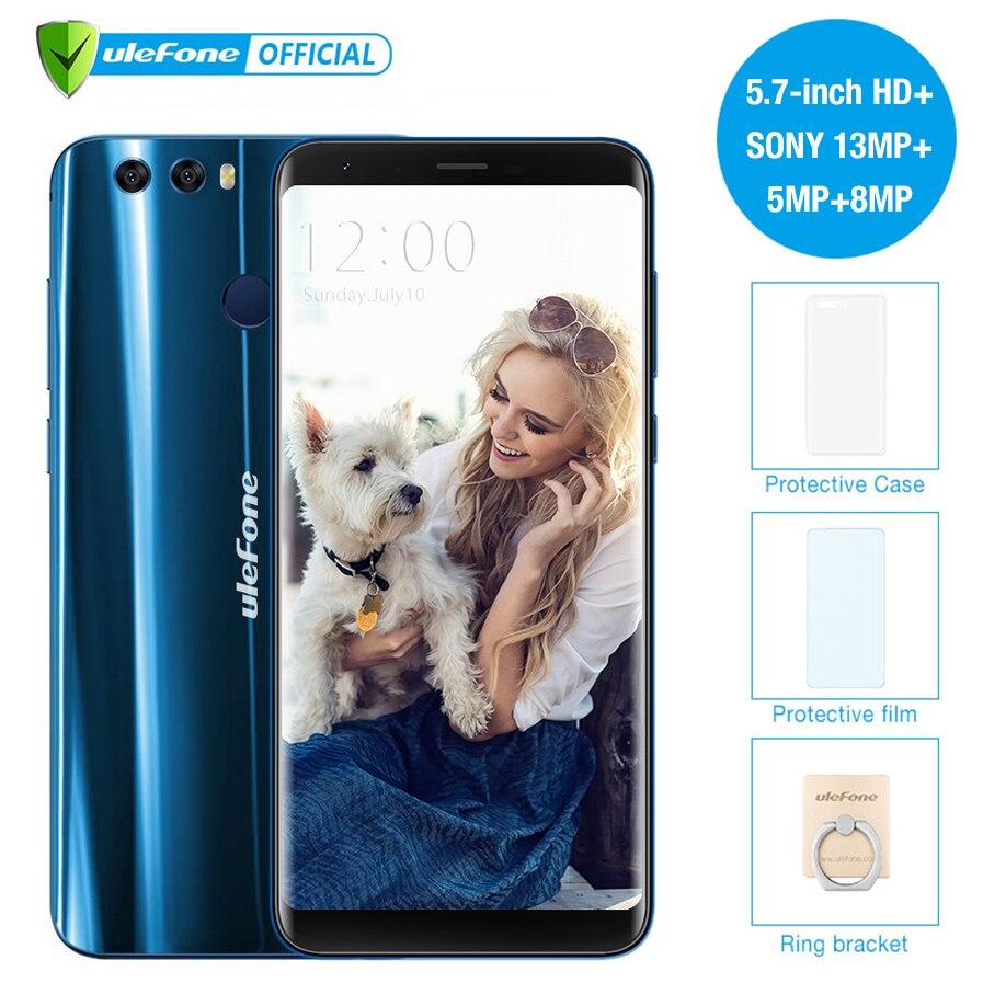 Ulefone Mix 2 5.7 дюймов HD + 13MP двойной камеры мобильного телефона MTK6737 4 ядра android 7.0 2 ГБ + 16 ГБ отпечатков пальцев 4 г смартфон