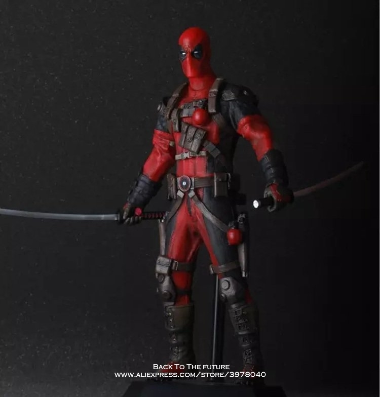 Disney Marvel X-men Deadpool 30cm Iron Man Action Figure Anime Mini Decoration Collection Figurine Toys model for children gift marvel action figures marvel universe blam deadpool figure toys deadpool breaking the fourth wall statue figurine 20cm