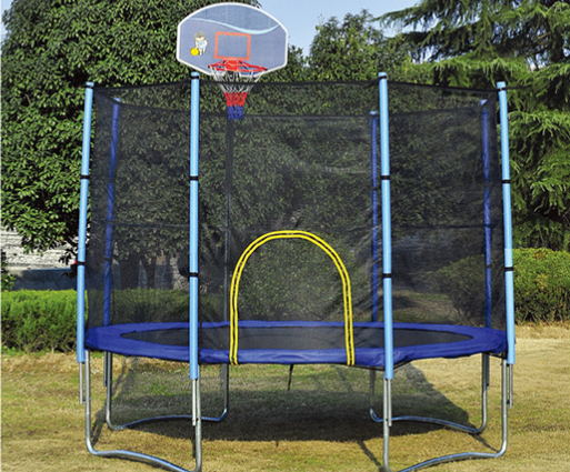 trampoline with basketball hoop, trampoline with enclosure ...