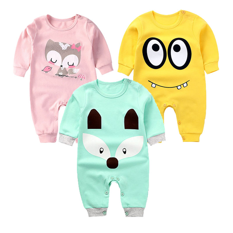 Cotton Baby Rompers Spring Baby Girl Clothes Cute Baby Boy Clothing Autumn Newborn Clothes Roupas Bebe Infant Baby Jumpsuits 2pcs baby boy clothing set autumn baby boy clothes cotton children clothing roupas bebe infant baby costume kids t shirt pants