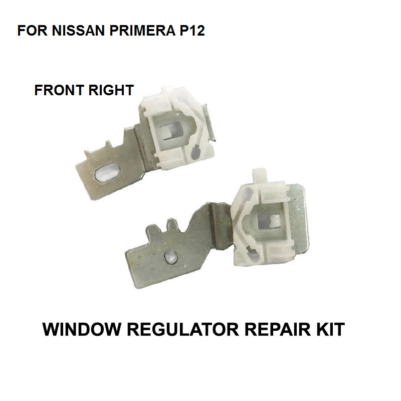 x2 PIECES IRON CLIPS FOR NISSAN PRIMERA P12 FRONT RIGHT 2002-2007 ELECTRIC WINDOW REGULATOR REPAIR KIT SLIDER CLIP