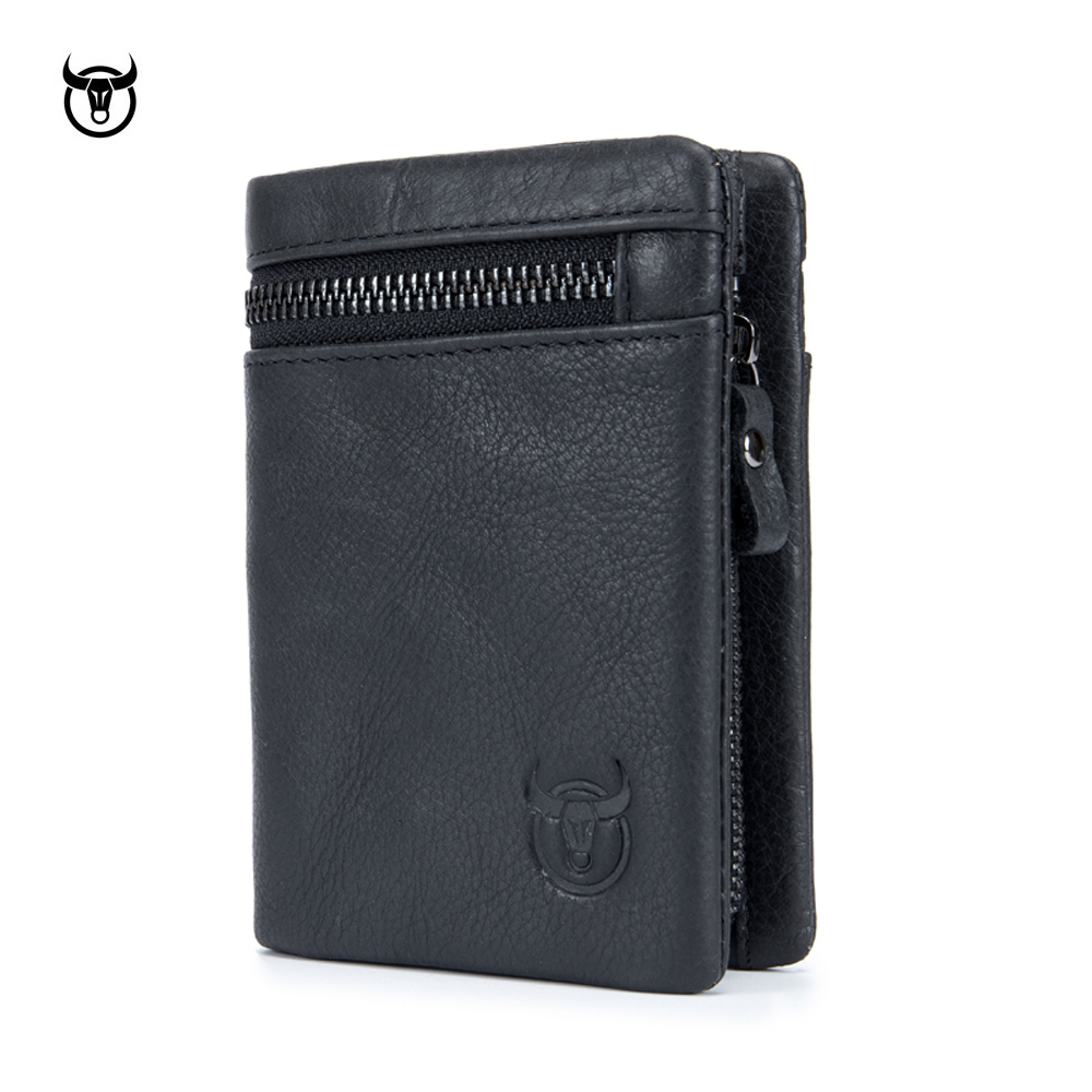 100% Genuine Cowhide Leather Men Wallets 2018 New Brand Vintage Leather Man Purse With Coin Bag Short Male Multi Card Holder