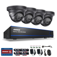 ANNKE 8CH CCTV Sistemi 2.0MP 1080 P AHD DVR 4 ADET 3000TVL Açık Gece Görüş 1920*1080 Güvenlik Kamera Video Gözetim Kitleri