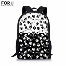 FORUDESIGNS Customize 16 inch Backpack for Teenager Girls Boy Speckle Stripe Print School Bag Childrens BookBag Daypack Mochila