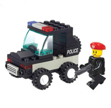 Sluban 700 City SWAT Police Series Riot Squadrol Toys For Children Building Blocks Patchwork Model Compatible With Legoe
