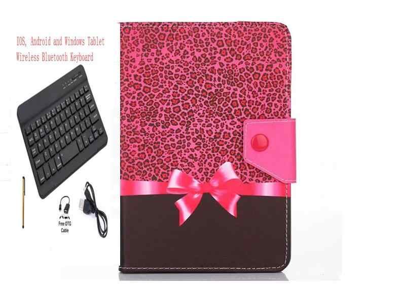 Dicetak Case Penutup Keyboard Bluetooth untuk 2019 Samsung Galaxy Tab S5e 10.5 T720 T725 Tablet Keyboard Case + Pen + OTG + USB