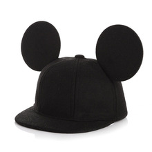 Fashion Parent-Child Mouse Ears wool Baseball Cap children Animal Flat Brim