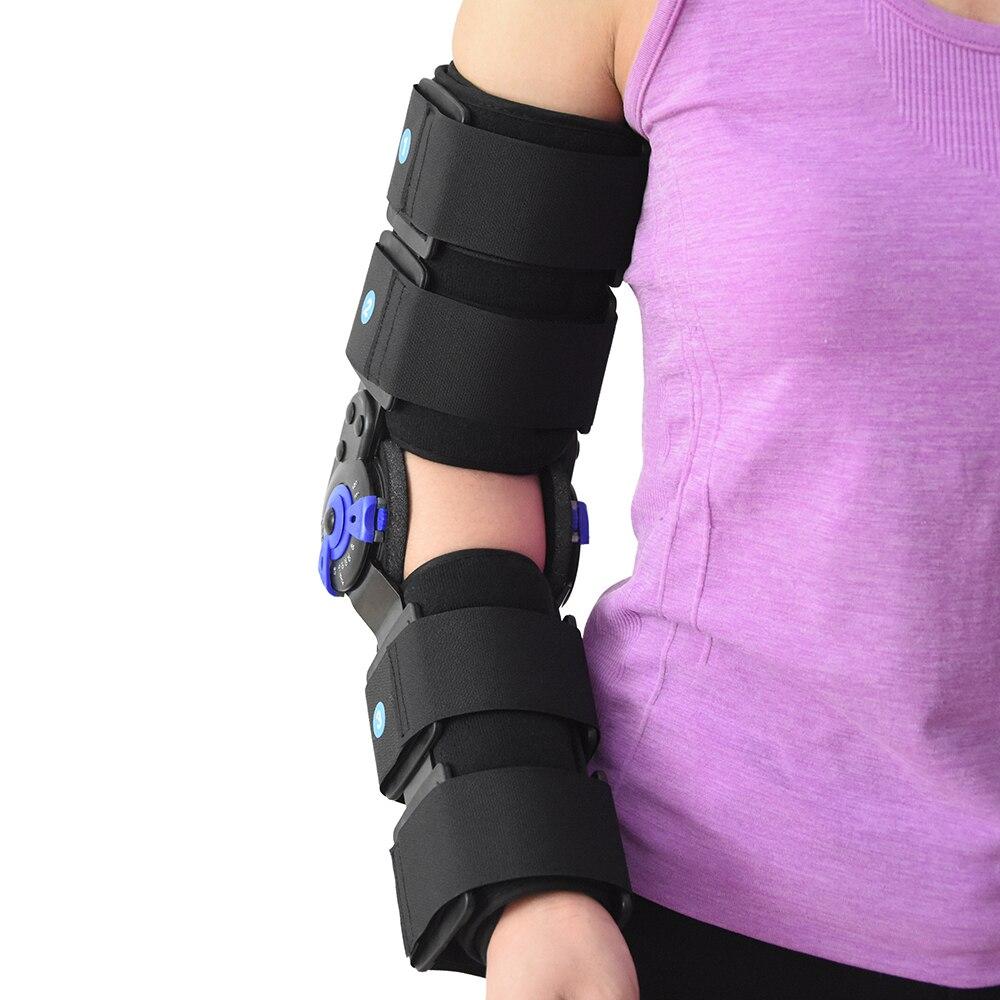 ROM brazo del codo con bisagras soporte de los soportes de la correa de la almohadilla ortopédica-in Abrazaderas y soportes from Belleza y salud    2