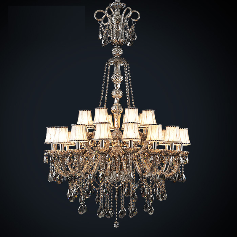 long stair chandelier led hanging lamp classical chandelier crystal - Indoor Lighting - Photo 1