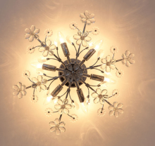 modern simple flowered ceiling lights creative romantic LED crystal lamps for living room bedroom dinning lamp fixture decor E27