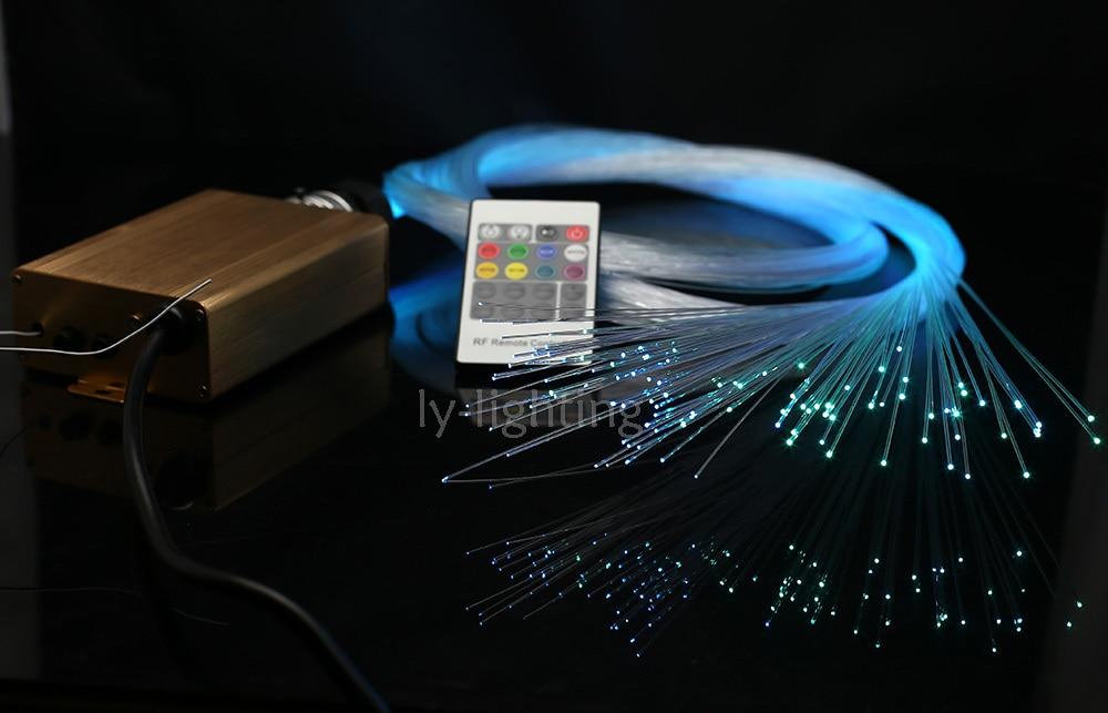 Home decoration spark stars fiber optic lights baby room night lights mini optical fiber light pack RF remote color change